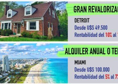 Casas – Detroit y Miami